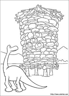 The Good Dinosaur Coloring Pages 10