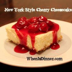 New York Style Cherry Cheesecake Recipe - ZipList