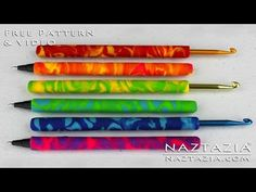 ▶ Learn How to Make Easy Beginner Polymer Clay Crochet Hook and Pen (Cover Covered Clay Hooks Pens) - YouTube