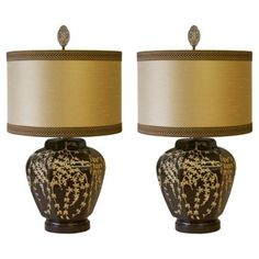 Check out this item at One Kings Lane! Dorothy Draper-Style Glass Lamps, Pair