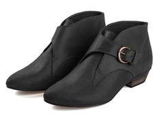 Tina Black Boots Leather Boots Handmade Boots by TamarShalem, $218.00