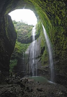 Madakaripura waterfall at Bromo Tengger Semeru National Park - East Java - Indonesia