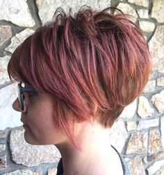 Sunset-Inspired Pixie Bob With Nape Undercut