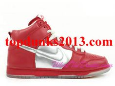 Purchase Mork and Mindy Silver Red Nike Dunk High Top Premium SB Saving
