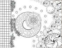 Garden Plan Black And White - Download From Over 53 Million High Quality Stock Photos, Images, Vectors. Sign up for FREE today. Image: 18997485