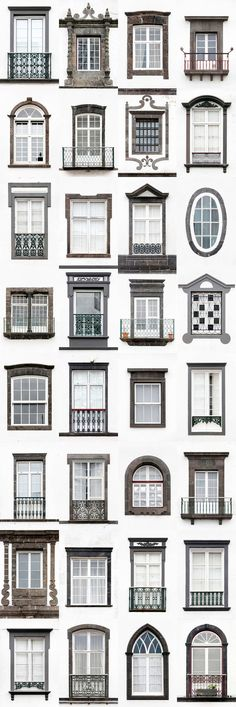 I Travelled All Over Portugal To Photograph Windows, And Captured More Than 3200 Of Them Ponta Delgada. I Traveled All Over Portugal To Photograph Windows, And Captured More Than 3200 Of Them – via BoredPanda Facade Design, Exterior Design, Interior And Exterior, Classic Architecture, Facade Architecture, Window Design, Door Design, Classic House Design, Facade House