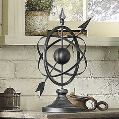 Armillary Sphere is perfect for vintage astronomy decor. Living room or library Tableaux D'inspiration, Vintage Industrial, Home Accents, Decorative Accessories, Accent Decor, Room Decor, Table Decorations, Diy Decoration, Interior Design