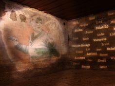 Mise en lumière de Bunkers de la Côte d'Opale - Conception lumière Agence Neolight Tours - Installation Citéos CL-PROFILE 60 ° by CONCEPT LIGHT avec divers gobos verre