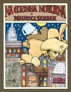 O mestre Sendak nos conta a história de Mickey, um menino que cai de sua cama e vai parar dentro da cozinha noturna, onde padeiros - cujas ilustrações em muito se assemelham ao ator cômico Oliver Hardy - preparam o bolo do café da manhã. Quando os padeiros confundem Mickey com leite e tentam assá-lo dentro do bolo, o menino transforma a massa em um avião para buscar o leite. A poesia ritmada e dinâmica é ornada pelas ilustrações que dão vida à cozinha noturna, uma Nova York construída de…