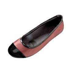 Leather Ballet Flat Bordeaux, $75, now featured on Fab.