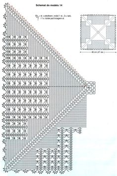 Page 2 of 2 * Large Square Crochet Square Patterns, Crochet Diagram, Filet Crochet, Crochet Doilies, Crochet Stitches, Knit Crochet, Pineapple Crochet, Crochet Home Decor, Ribbon Design