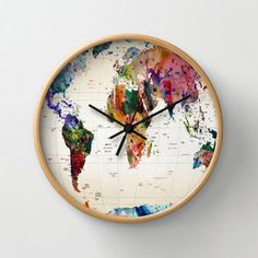 World Wide Wall Clock...family room LP