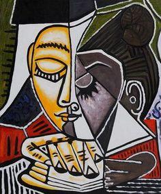 """Pablo Picasso, """"Tete d'une Femme Lisant"""", 1953"""