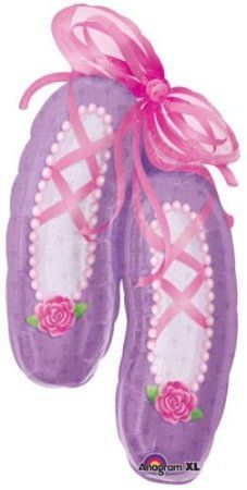"Amazon.com: Large Ballet Slippers Mylar Balloon 39"" Dance Ballerina: Toys & Games"