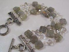 Labradorite+Bracelet++Triple+Strand+by+AlteredElementsJewel,+$123.00