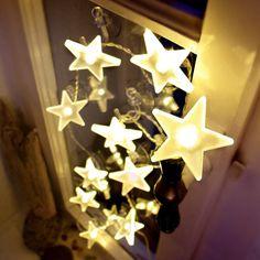 Den tiltalende LED-stjerne-lyslenken, matt, 2 m 4523115