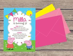 Peppa Pig Party Invitations & Decor on Etsy, $30.00