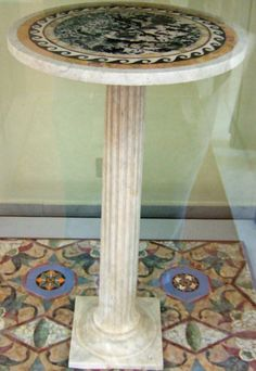 Marble table found in V.1.18 Pompeii. Now in Naples Archaeological Museum. Inventory number 120830.