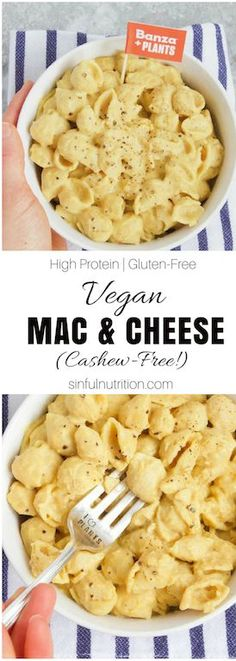Vegan Mac and Cheese Recipe (Cashew-Free!) -- A dairy-free and plant-based mac & cheese recipe that doesn't require any prep or nuts for a quick & easy healthy dinner idea that is full of protein, fiber, and plant power! Vegan Mac And Cheese, Easy Mac And Cheese, Mac Cheese, Pasta Cheese, Cheese Art, Cashew Cheese, Easy Healthy Dinners, Vegan Dinners, Easy Healthy Recipes