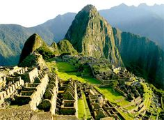 Machu Picchu! It's in the Urubamba Province, Peru in South America. It's known as being the land of the Incas!