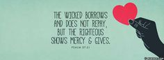 Psalms 37:21 NKJV - The Wicked Borrows And Does Not Repay - Facebook Cover Photo - MyBible.com