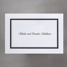 Black Border - Note Card and Envelope