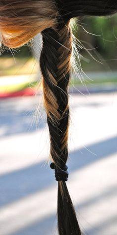 blonde & brunette fishtail