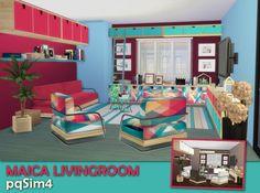 Maica livingroom by Mary Jiménez at pqSims4 via Sims 4 Updates