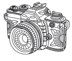 Get the coloring page: Camera