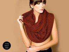 XXL merino infinity scarf oxblood circle loop snood by THEKNITKID, €100.00