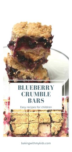 Berry crumble bars are a delicious way of getting kids in the kitchen baking and using up summer fruit. The tartness of blueberries, raspberries and blackberries cuts through the sweetness of the crumble perfectly. #traybake #baking #recipe #easy #bars #blueberry # Easy Baking For Kids, Blueberry Crumble Bars, Blackberries, Summer Fruit, Yummy Eats, Tray Bakes, Casserole Recipes, Confessions, Baking Recipes