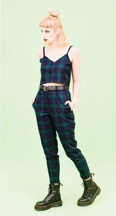GREEN TARTAN ANKLE GRAZER TROUSERS AND CAMI TWO PIECE -> SALE bis 70% auf Fashion -> klicken