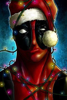 Deadpool Deseja a Todos Um FELIZ NATAL - Por Riccardo Fasoli