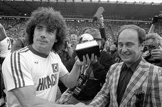 Kevin Keegan receives his first Ballon d'Or, 19 May 1979.