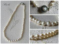Collar de perlas clasico anudado!!!