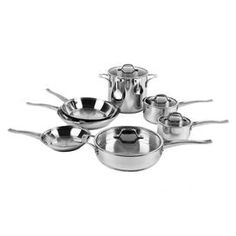 I pinned this Calphalon 11 Piece CWC Cookware Set from the Kitchen Essentials event at Joss and Main! Cookware Set, Kitchen Essentials, Fabulous Foods, Cooking Tools, Joss And Main, Kitchen Gadgets, Stainless Steel, Make It Yourself, How To Make
