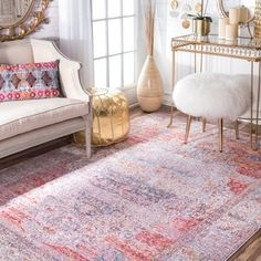 Shop for nuLOOM Vintage Floral Medallion Blush Rug (7'10 x 10'10). Get free shipping at Overstock.com - Your Online Home Decor Outlet Store! Get 5% in rewards with Club O!