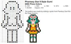 Dork Stitch: Sprite Patterns December Day 25: Vocaloid Explosion