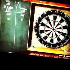 Last night in our digital Pub , playing darts and listening to Willie Nelson's Whiskey River