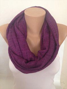 Purple Cotton Scarf  Long Cotton Lace Scarf  Pashmina by MaxiJoy, $16.40