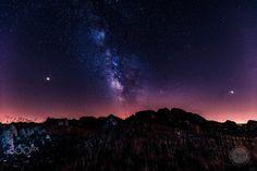 Milky way over Portu