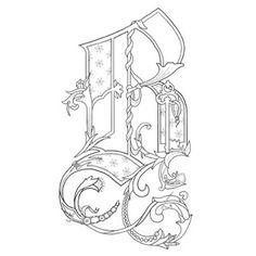 Alice Stanne: Illuminated Letters Alphabet Design, Alphabet Art, Graffiti Alphabet, Fancy Letters, Monogram Letters, Coloring Letters, Coloring Pages, Alphabet Coloring, Illuminated Letters