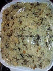 Ghee rice cooked in micro wave oven