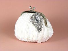 Wedding Clutch White Bridal Clutch Wedding by WhiteAisleBoutique, $36.00