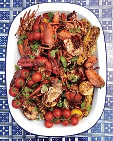 Grilled Lobster with Sun-Dried Chile Butter and Corn on the Cob - Martha Stewart Recipes