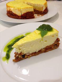 Savoury Eggplant parmigiana cheesecake