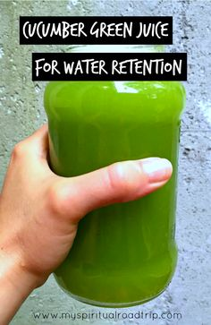 Feeling a bit bloated?  This cucumber green juice is awesome for getting rid of water retention, and you don't even need a juicer! | My Spiritual Roadtrip  http://myspiritualroadtrip.com/2015/08/cucumber-green-juice-for-water-retention-with-or-without-a-juicer/