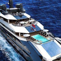 """""""M/Y Rialto⚓️ 110mt Concept of Oceanco Shipyards designed by Nuvolari & Lenard. #yacht #megayacht #superyacht #royalyacht #royal #oceanco #shipyard…"""""""