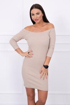 Rochie crem cu lungime mini si maneci trei sferturi Smart Casual, Sweaters, Outfits, Dresses, Fashion, Vestidos, Moda, Suits, Sweater