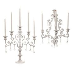 Midnight Candelabra. Maybe in off-white like faded lace...
